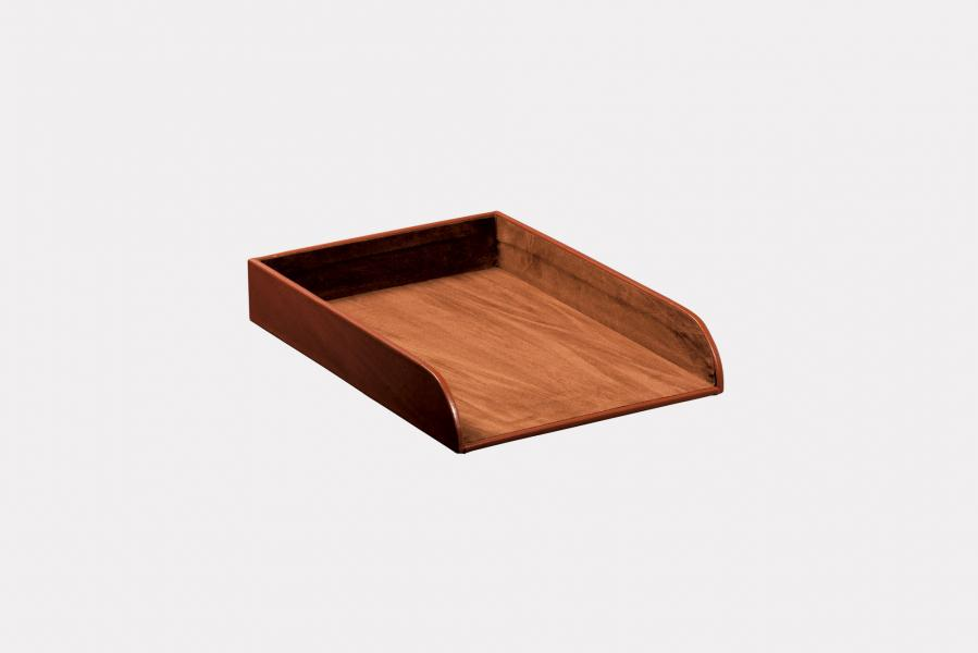 "A/4 paper tray holder in ""by Cast"" leather"