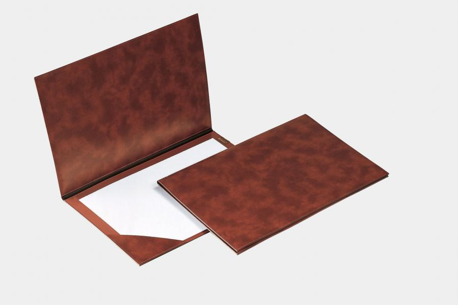 "Double desk pad in leatherette ""Teolo"""