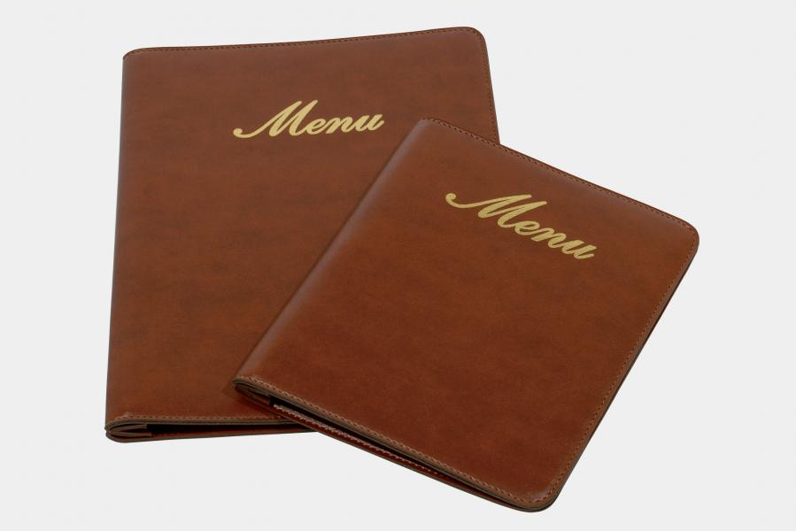 "menu holder  in leatherette ""Teolo"""
