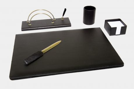 "5-pcs desk set in ""Gemini"" leather"