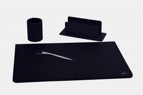 "4-pcs desk set in synthetic ""Winner"""