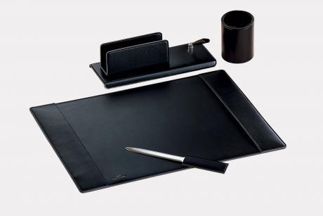 "4-pcs desk set in leatherette ""Teolo"""