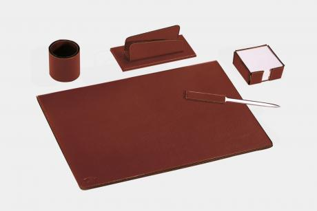 "5-pcs desk set in leatherette ""Teolo"""