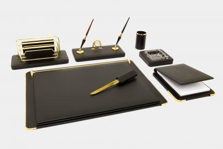 "7-pcs desk set in ""Gemini"" leather"